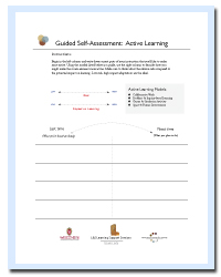 Active Learning Guided Self-Assessment Worksheet